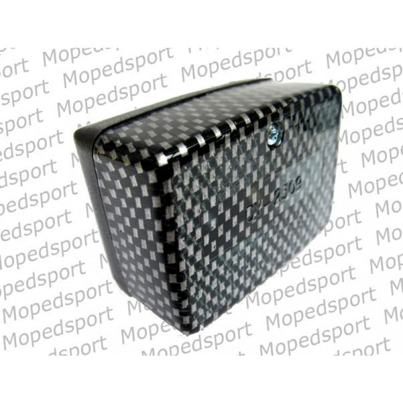Achterlicht Puch Maxi zwart met zwart carbon licht