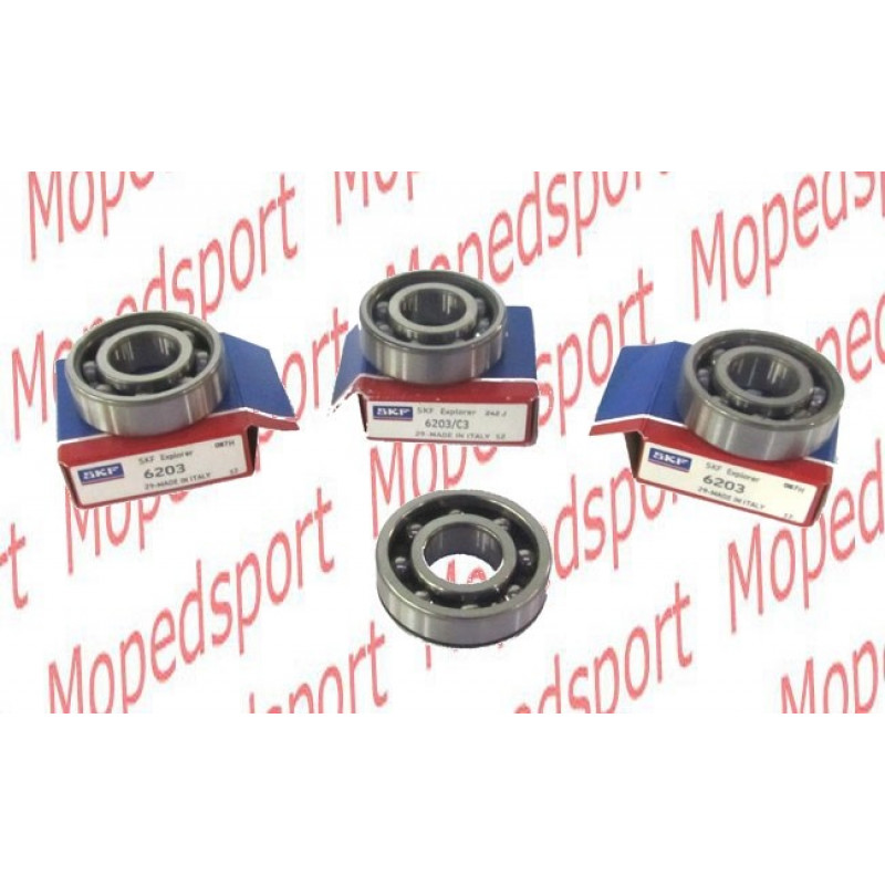 Lagerset 2x6203 C3 SKF  + versmalde lager 6203 ST  Puch Maxi