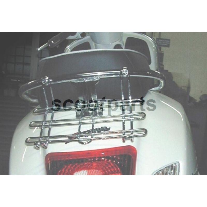 Achterdrager mini Vespa GTS 250, 300 chroom