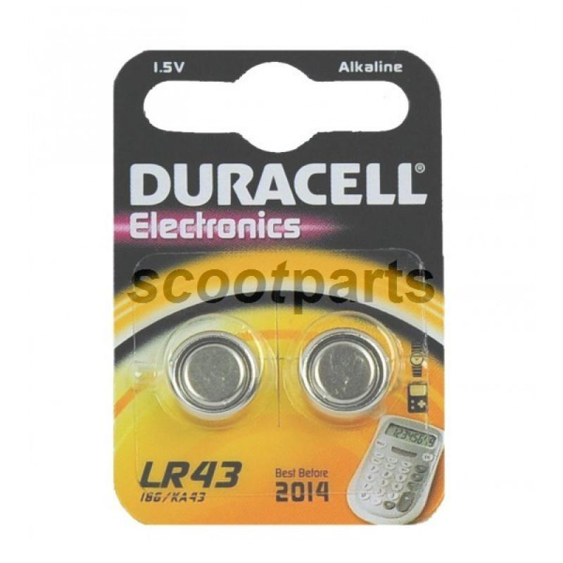 Batterij 1,5 Volt LR43 Duracell 2st