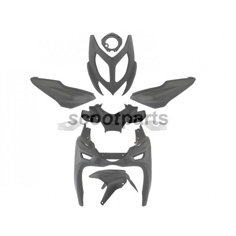 Kappenset - Plaatset Yamaha Aerox 4  9 delig mat zwart