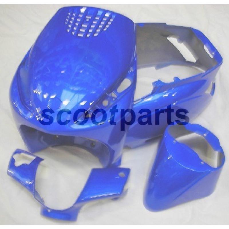 Kappenset - Plaatset Piaggio Zip 4 takt blauw 4 delig