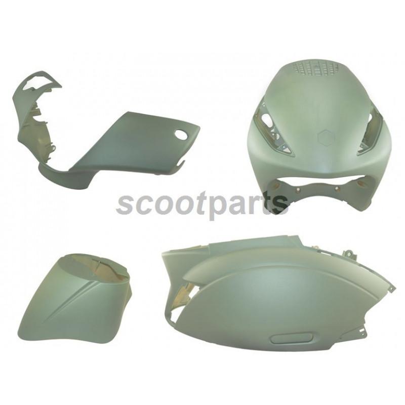 Kappenset - Plaatset Piaggio Zip 4 takt mat groen