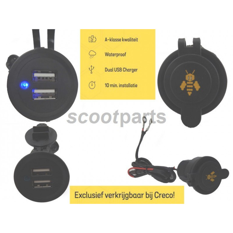 Dual usb lader Electronic Bee