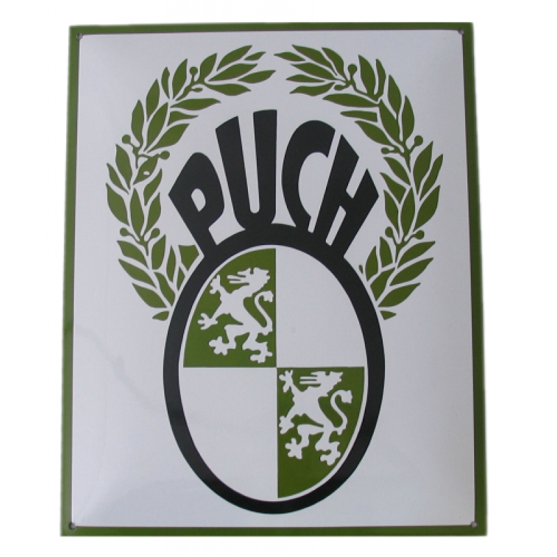 Emaille bord Puch 40x50cm