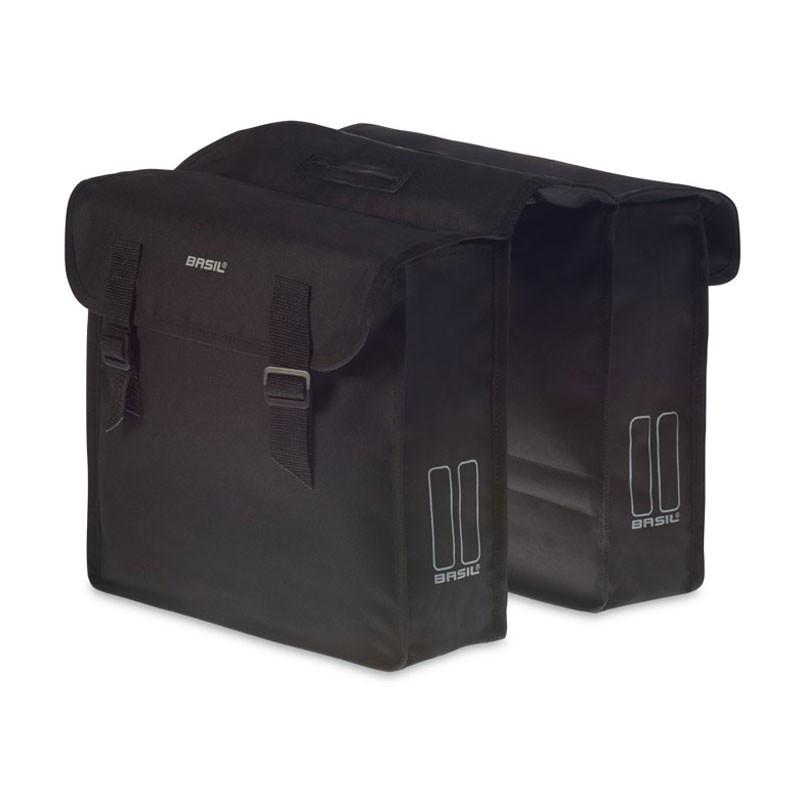 Fietstas Basil Mara, zwart, dubbel, 26 liter