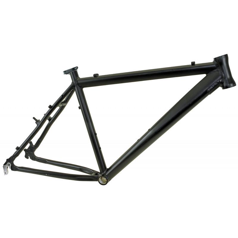 """Frame 17"""" MTB aluminium 7005 S-Bend voor 26"""" wielen - mat zwart"""