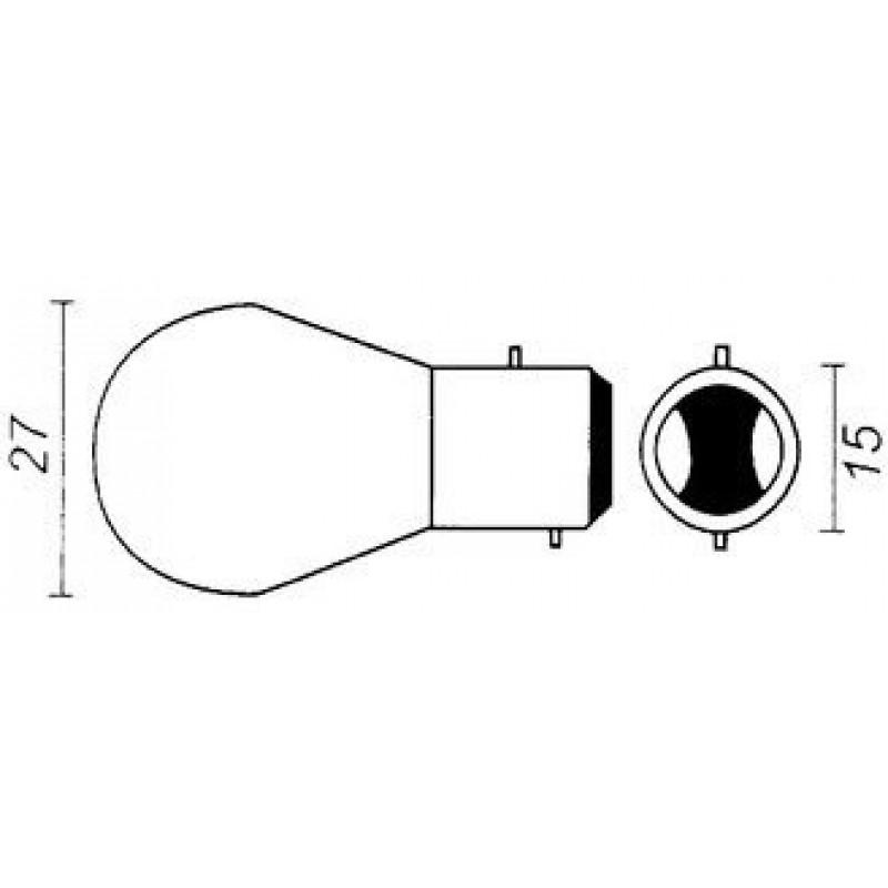 lamp 12V-20/20W BAx15D