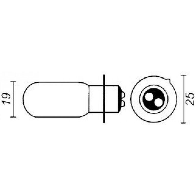 lamp 6V-15/15W PX15D