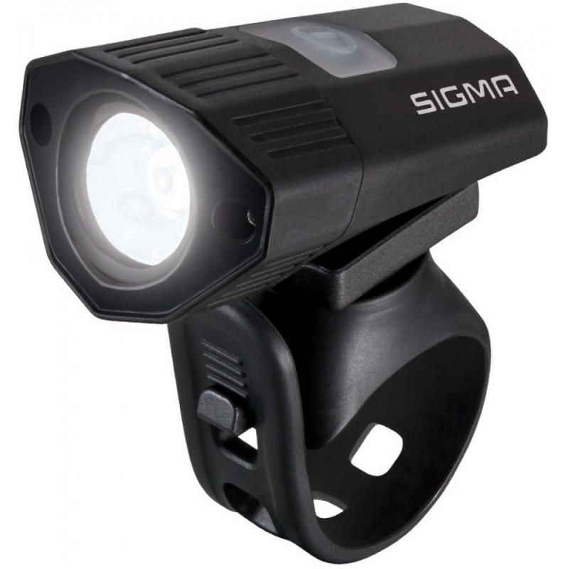 Koplamp Sigma Buster 100 HL met siliconen houder - USB oplaadbaar