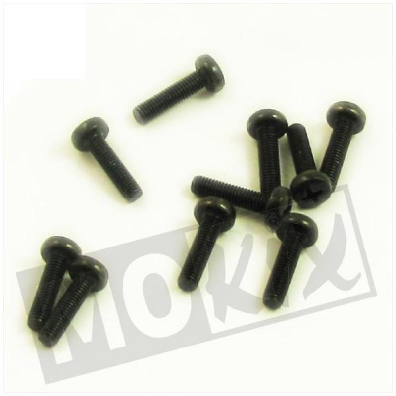 Metaalschroef M5x20 zwart 10 stuks