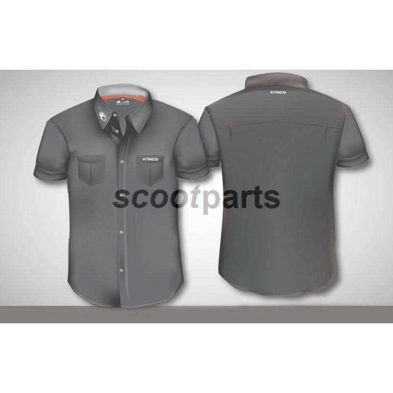 Overhemd Kymco zwart XXL korte mouw