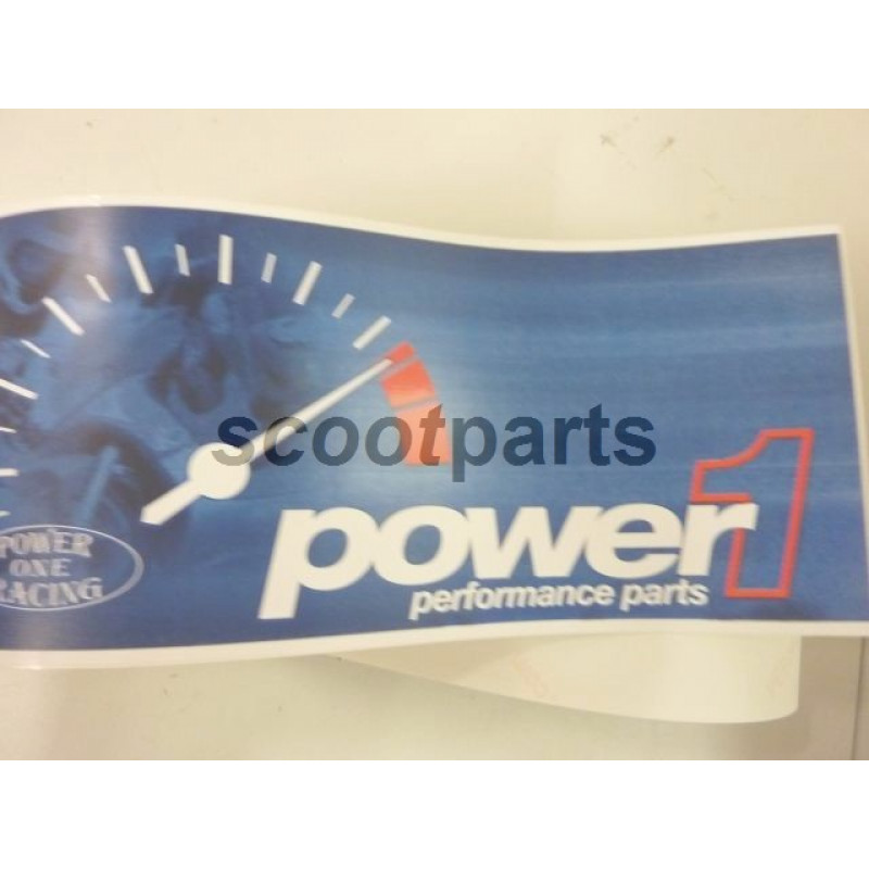 Raamsticker Power 1 groot 1mtr