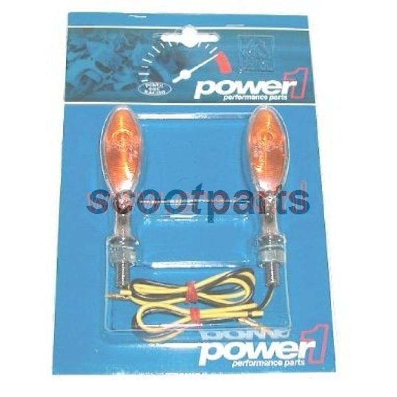 Richtingaanwijzer set mini vinger chroom met E-keur