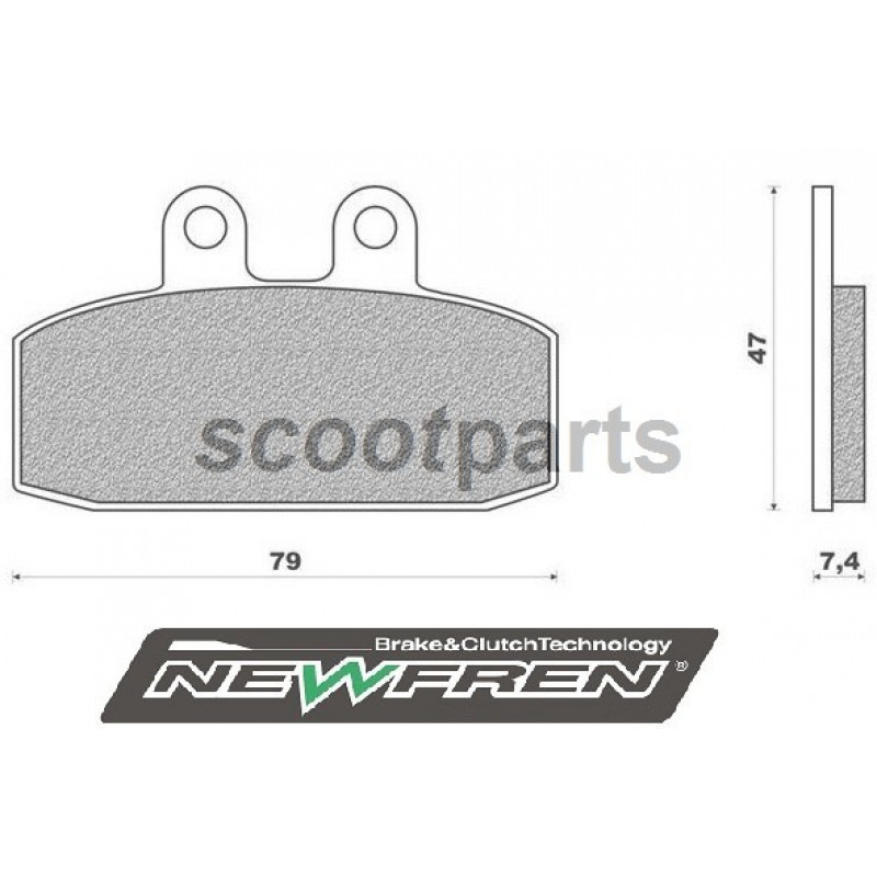 Remblok set Newfren Aprilia Sportcity One, Cube 125, 300