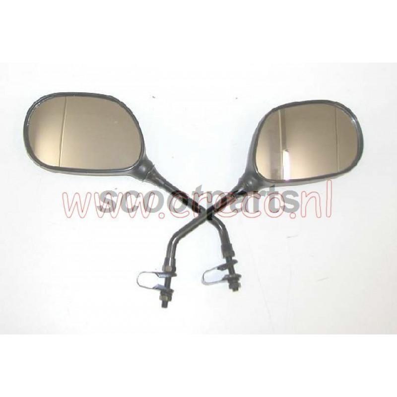 Spiegel set Scooter  universeel  met montageklem klem