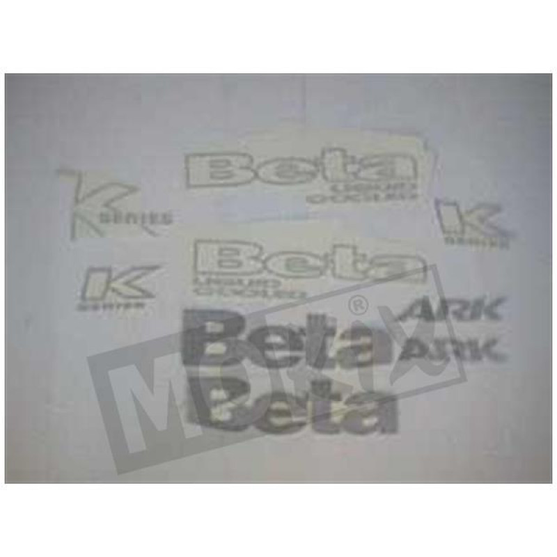 Stickerset Beta Ark blauw, zilver 2004