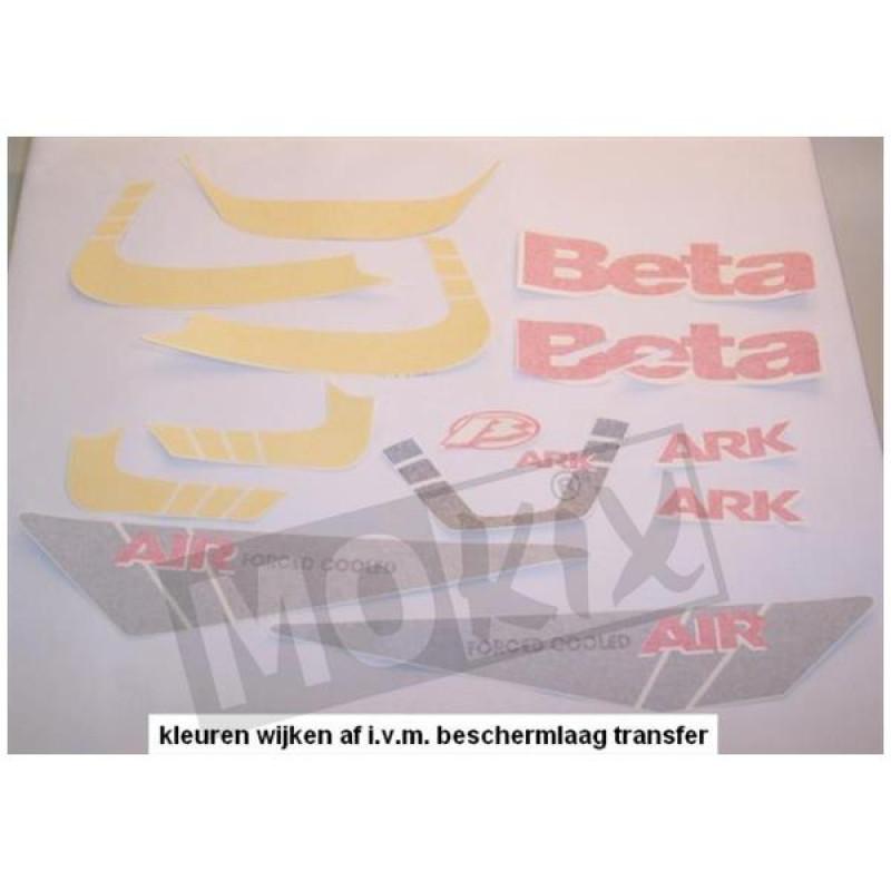 Stickerset Beta Ark Geel, Zwart 2004