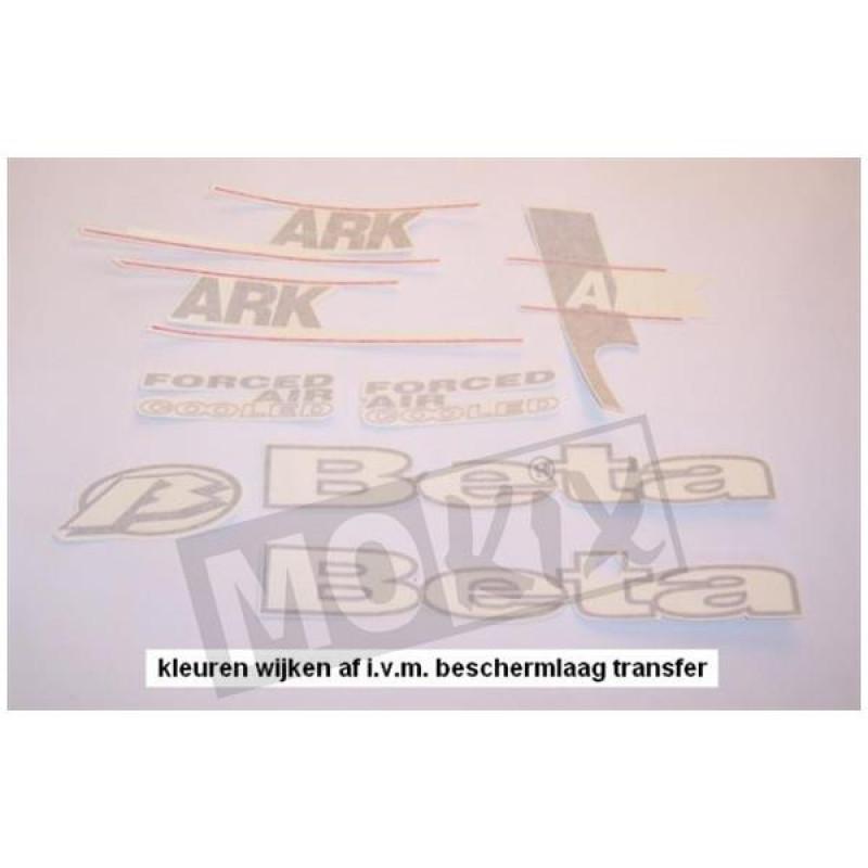 Stickerset Beta Ark Zwart 2002,04