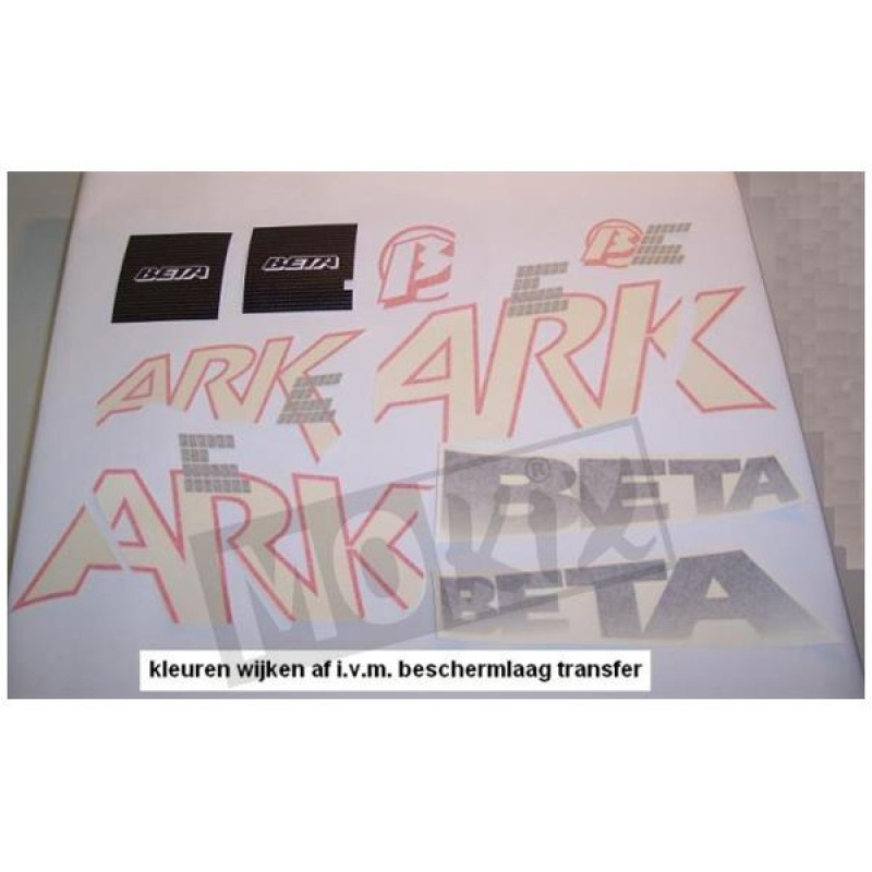 Stickerset Beta Ark Zwart,paars
