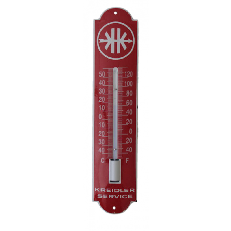 Thermometer emaille Kreidler Service 6.5x30cm.