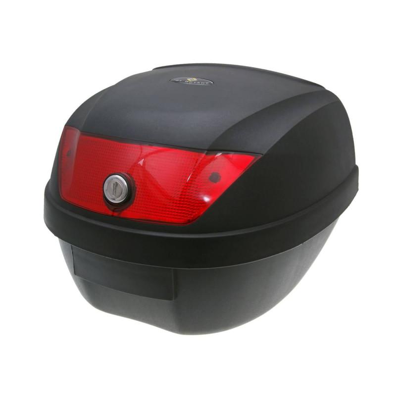 Topkoffer - bagagebox Koffer zwart 28 litermet Reflektor rood