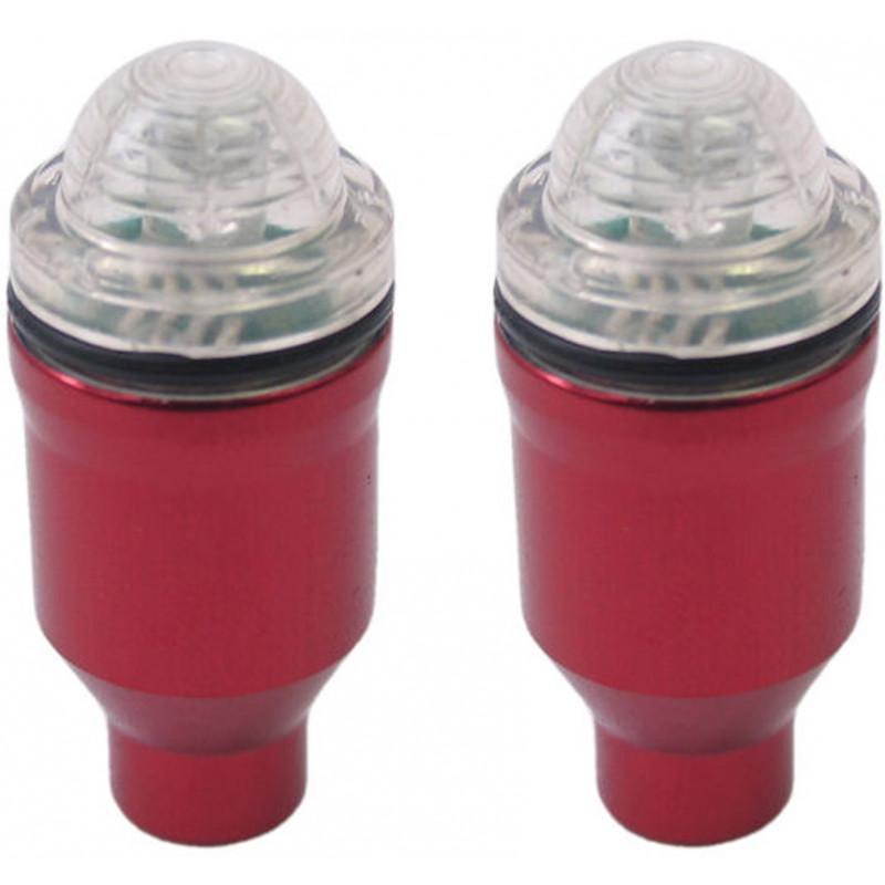 Ventieldop met lamp rood 2 stuks