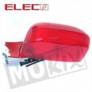 Achterlicht Derbi Senda R nieuw model compleet rood
