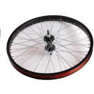Achterwiel 20x175 aluminium-zwart Freestyle 48-Spaak