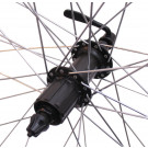 Achterwiel 28x1/4 aluminium-zwart- Sunrace HBM53- 8-SPEED