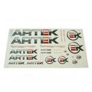 Sticker set ARTEK grijs-rood 44 x 23cm