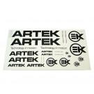 Sticker set ARTEK zwart 44 x 23cm