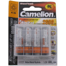 Batterij Camelion oplaadbaar AA / LR06 NimH 1,5V - 2600 mAh (4 stuks)