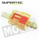 Benzinefilters  universeel 6mm vierkant