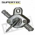Benzinekraan universeel montage tussen slang 2 aansluitingen 6mm met oog steun Supertec