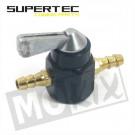 Benzinekraan universeel montage tussen slang 2 aansluitingen 6mm Supertec