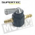 Benzinekraan universeel (montage tussen slang) 2 aansluitingen 7mm supertec