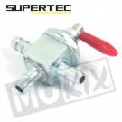 Benzinekraan universeel montage tussen slang 3 aansluitingen Supertec