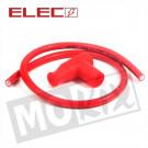 Bougiedop - bougiekap en kabel rood