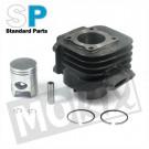 Cilinder Minarelli verticaal compleet 50cc 40.00mm compleet Standard Parts