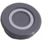 Crankdop kunststof - zilver / grijs