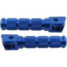 Duo voetsteun set Derbi Senda aluminium blauw