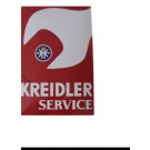 Emaille bord Kreidler Service 40x60cm