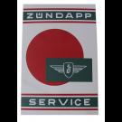 Emaille bord Zundapp Service 40x60cm (omgezet)
