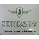 Emaille bord Zundapp 50x40cm