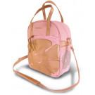 Fietstas Basil Jasmin-shopper 10ltr roze/goud 29x11x32cm  10ltr