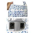 Shoppertas Basil Mirte 16 liter - delts blauw