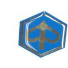 Embleem front Piaggio logo blauw - chroom
