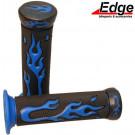 Handvat set Flame zwart / blauw Edgi