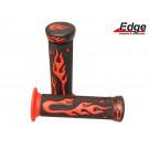 Handvat set Flame zwart-rood